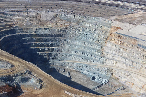 De Beers diamond mine pit