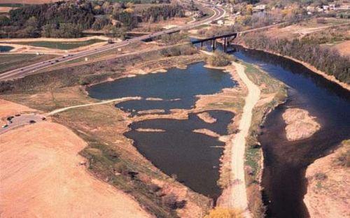 restored fish pond habitat