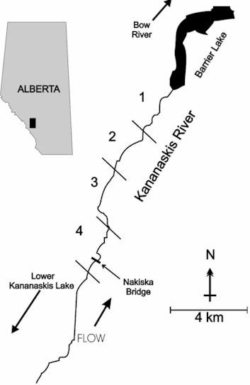 kananaskis river diagram