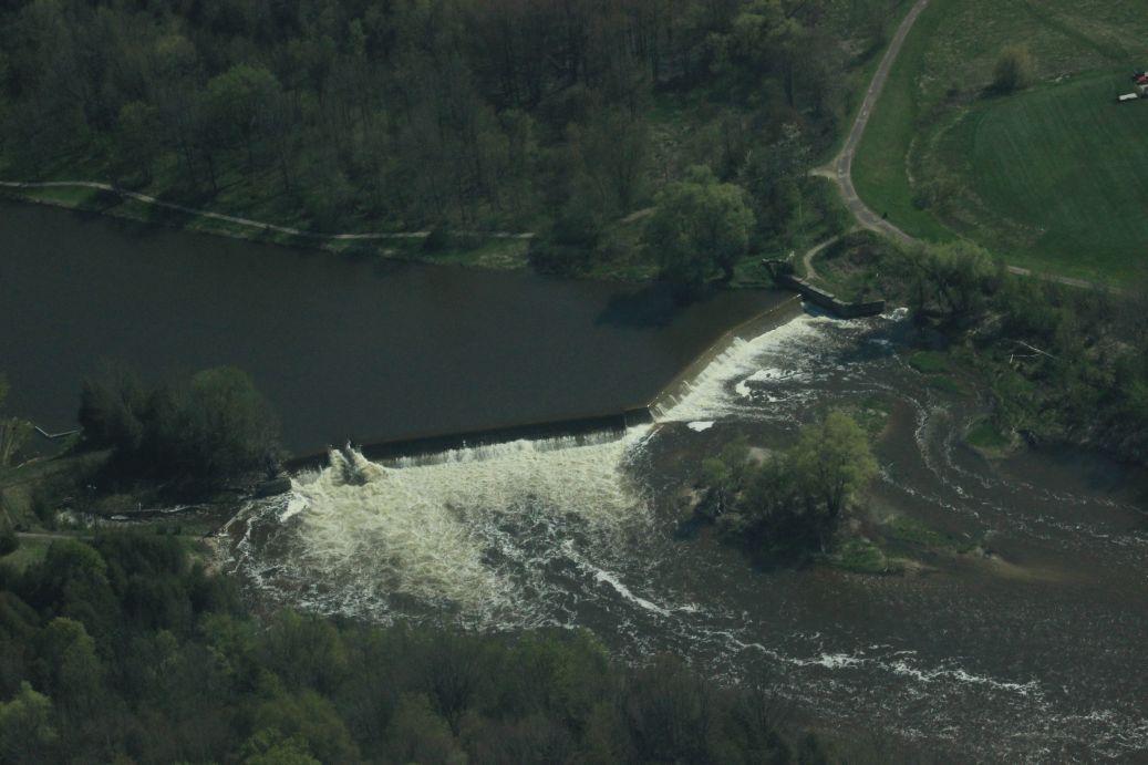 Truax Dam walkerton Ontario Saugeen River
