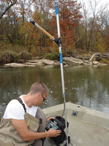 fish telemetry tracking by boat