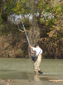 fish telemetry tracking by foot