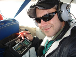 fish telemetry tracking by small aircraft