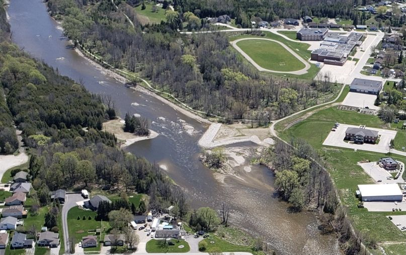 Saugeen river post dam removal