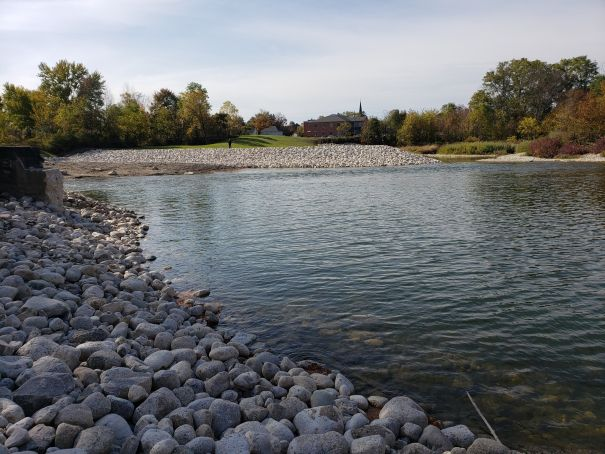 remediated dam removal footprint