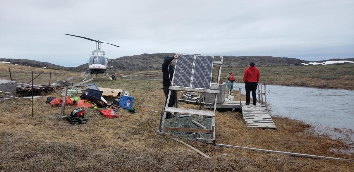 Arctic site set up